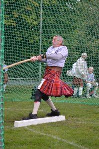 Bernie Welch throws heavy hammer