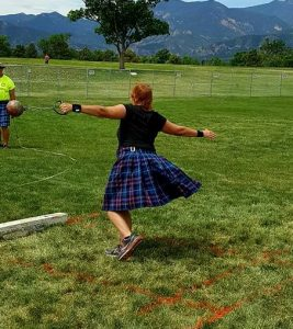 Linda M Hughes throwing weight for distance