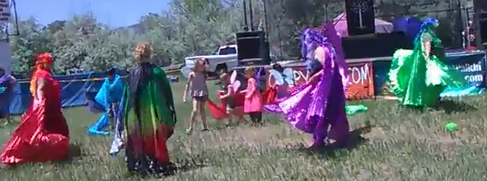 YEA Dancers Share The Butterfly Dance With Children At Colorado Medieval Festival 2018