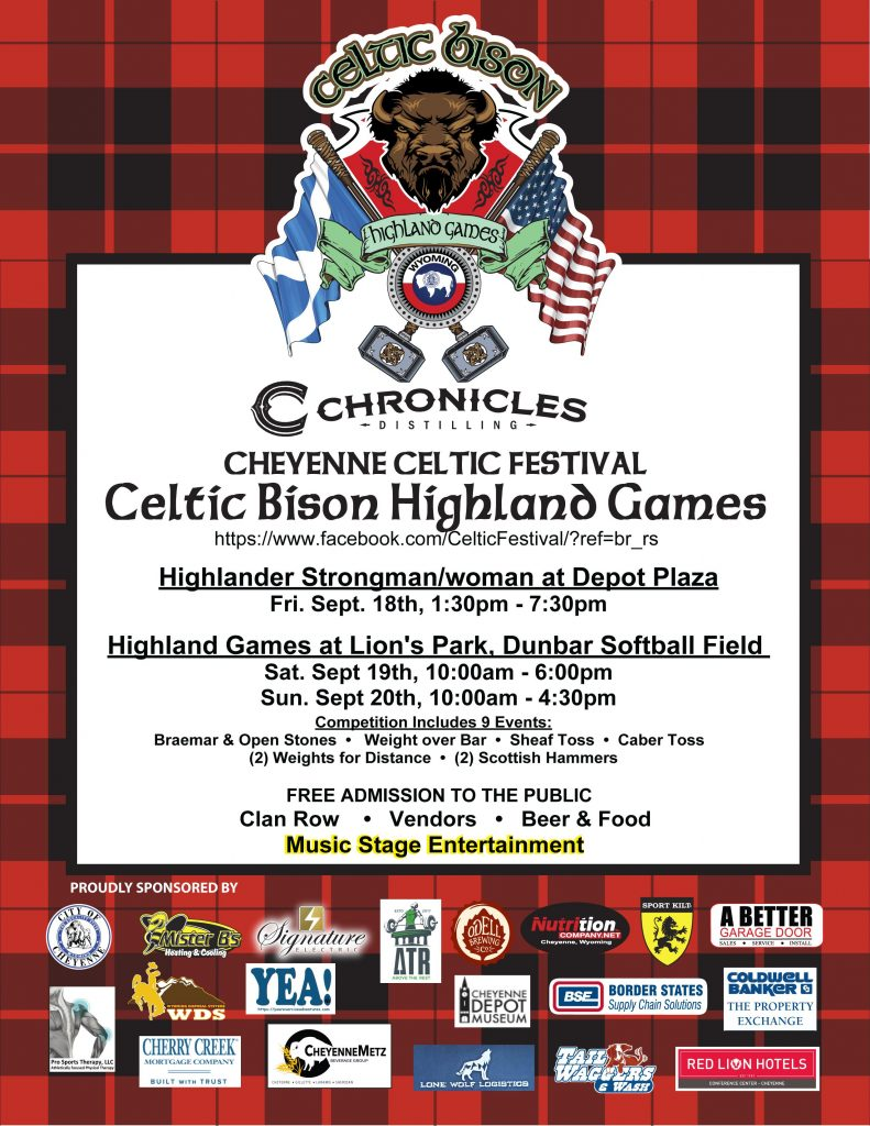 Cheyenne Celtic Festival - Celtic Bison Highland Games 2020