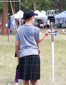 Sword Art Adventure Spectator Clinic July 19, 2019 Elizabeth Celtic Festival Modeling A Hold